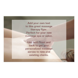 Swedish Massage Photo - thumb pressure 14 Cm X 21.5 Cm Flyer