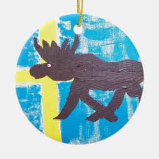Swedish Moose Christmas Ornament