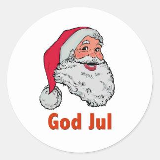 Swedish/Norwegian Santa Classic Round Sticker
