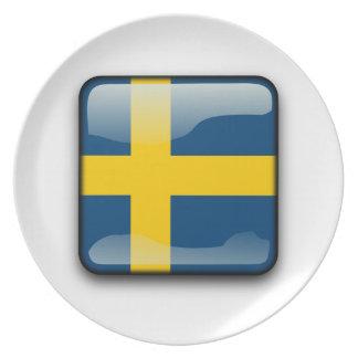 Swedish polished flag plates