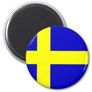 Swedish pride 6 cm round magnet