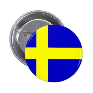 Swedish pride pinback button