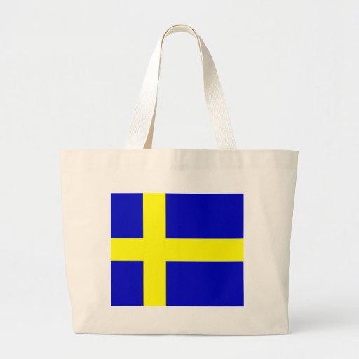 Swedish pride canvas bags