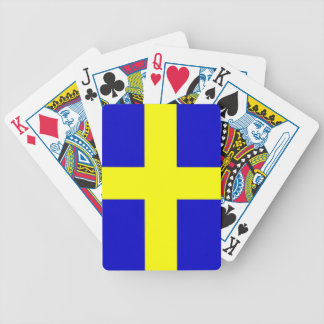 Swedish pride bicycle poker deck