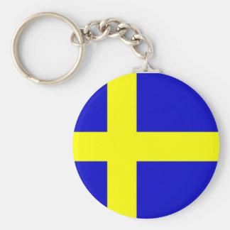 Swedish pride keychains