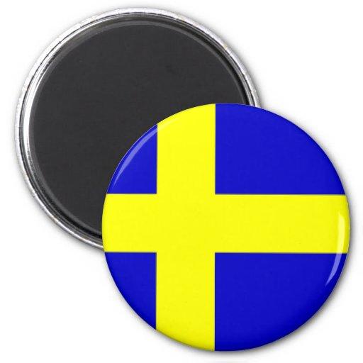 Swedish pride refrigerator magnets
