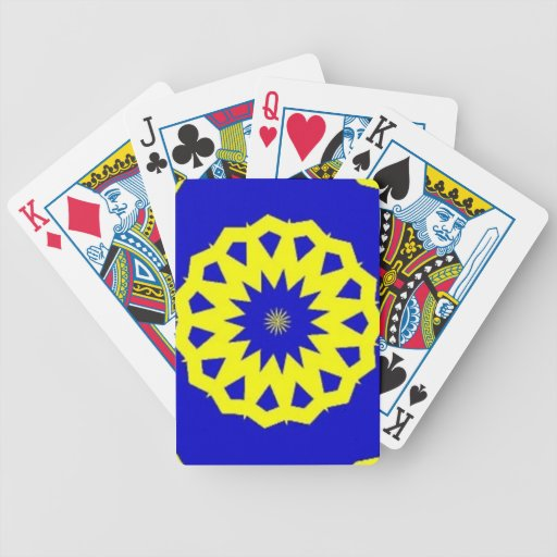 Swedish Pride Bicycle Playing Cards