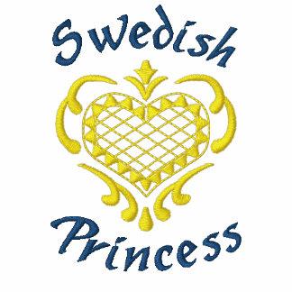 Swedish Princess Embroidered Hooded Sweatshirt
