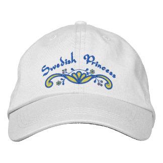 Swedish Princess Scandinavian Embroidered Baseball Cap