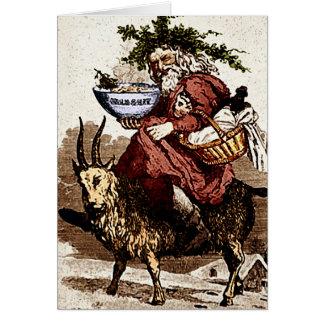 Swedish Santa & Christmas Goat Greeting Card