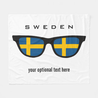 Swedish Shades custom text & color fleece blankets Fleece Blanket