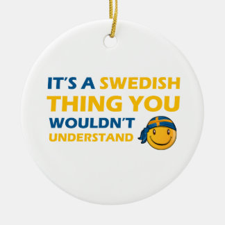 swedish smiley design christmas ornament