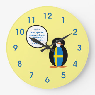 Swedish Talking Mr.Penguin Large Clock