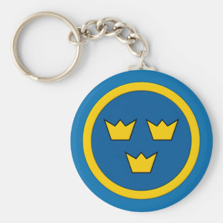 Swedish Three Crowns Flygvapnet Key Ring