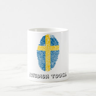 Swedish touch fingerprint flag coffee mug