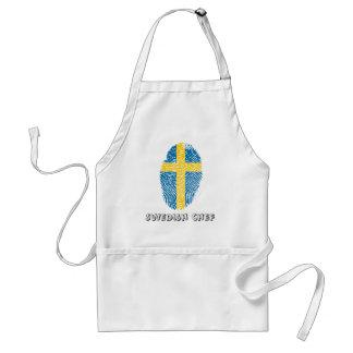 Swedish touch fingerprint flag standard apron