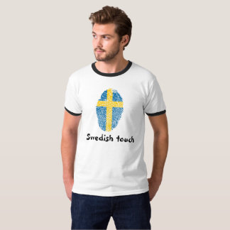 Swedish touch fingerprint flag T-Shirt
