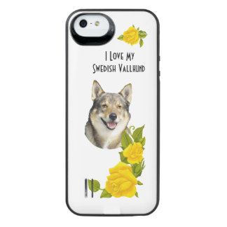 Swedish Vallhund and Yellow Roses iPhone SE/5/5s Battery Case