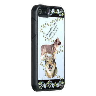 Swedish Vallhund, Black Blue Bells OtterBox iPhone 5/5s/SE Case