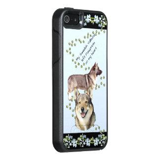 Swedish Vallhund, Black Blue Bells OtterBox iPhone 5/5s/SE Case