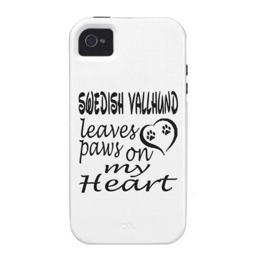 Swedish Vallhund Dog Leaves Paw On My Heart iPhone 4 Cover