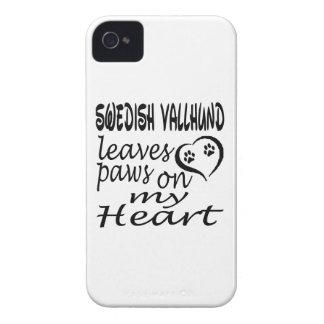 Swedish Vallhund Dog Leaves Paw On My Heart iPhone 4 Case-Mate Case