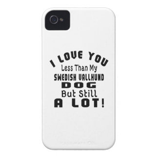 SWEDISH VALLHUND. FUNNY DESIGNS Case-Mate iPhone 4 CASE