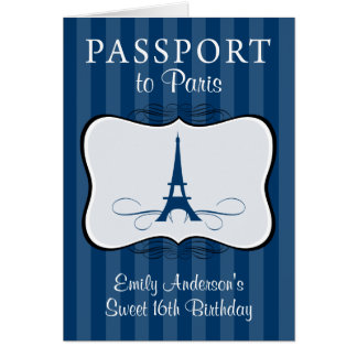 Swee 16th Birthday Passport Invitation