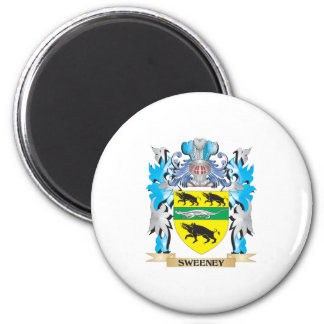 Sweeney Coat of Arms - Family Crest 6 Cm Round Magnet