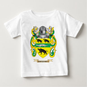 Surname history clothing apparel zazzle sweeney coat of arms family crest baby t shirt altavistaventures Gallery