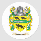 Sweeney Coat of Arms (Family Crest) Classic Round Sticker