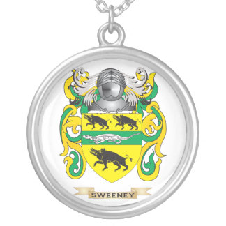 Sweeney Coat of Arms Family Crest Personalized Necklace