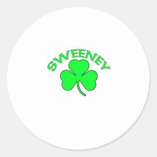 Sweeney Round Stickers