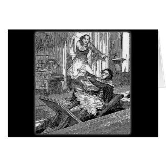 Sweeney Todd-Barbers Chair-Penny Dreadful Greeting Card