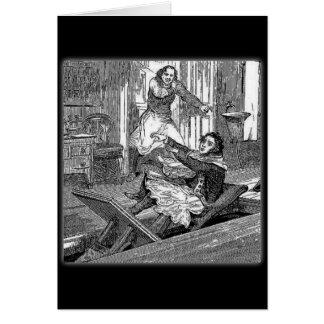 Sweeney Todd-Barbers Chair-Penny Dreadful Greeting Card