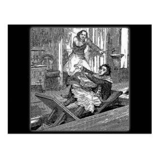 Sweeney Todd-Barbers Chair-Penny Dreadful Postcard