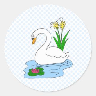 Sweenie Swan Round Sticker