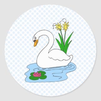 Sweenie Swan Classic Round Sticker