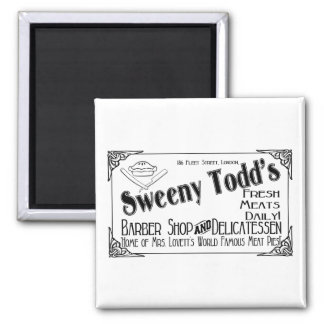 Sweeny Todd's Barber Shop & Delicatessen Magnet
