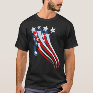 Sweeping American Flag T-Shirt