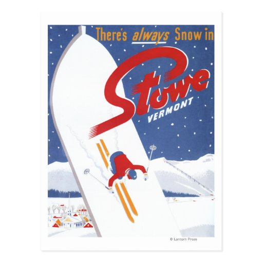 Sweeping S - There's Always Snow Promo Poster Post Card
