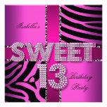 Sweet 13 13th Birthday Zebra Cow Pink Black
