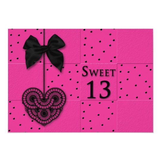 Sweet 13 Birthday Party Invitations