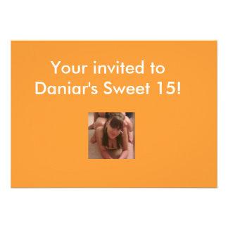 Sweet 15-16 invitations
