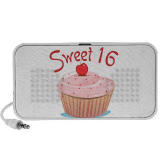 Sweet 16 16th Birthday Cupcake iPhone Speakers