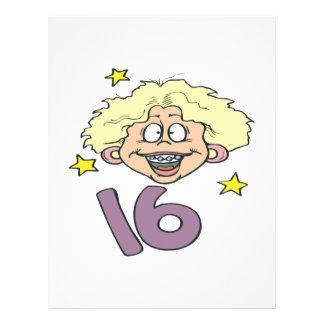Sweet 16 21.5 cm x 28 cm flyer