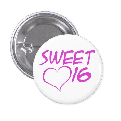 Sweet 16 pinback buttons