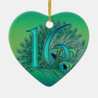 sweet 16 birthday decorated age number christmas tree ornament