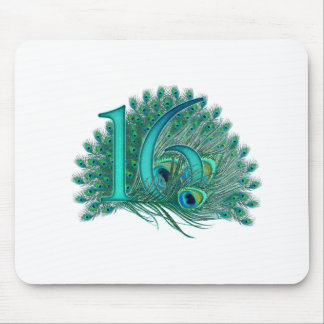 sweet 16 birthday decorated age number mouse pad