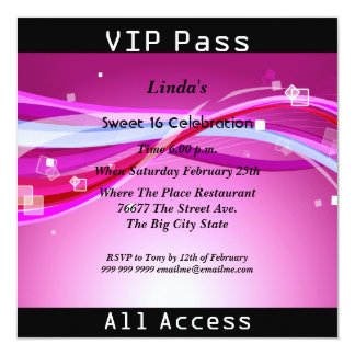 Sweet 16 Birthday Party Green Disco 2 13 Cm X 13 Cm Square Invitation Card